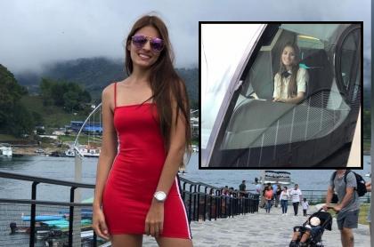 Foto de Laura Vega, conductora del Metro de Medellín que ahora es reina