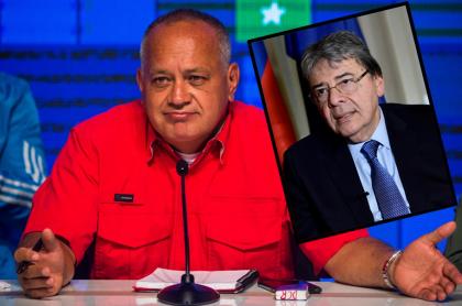 Diosdado Cabello y Carlos Holmes Trujillo