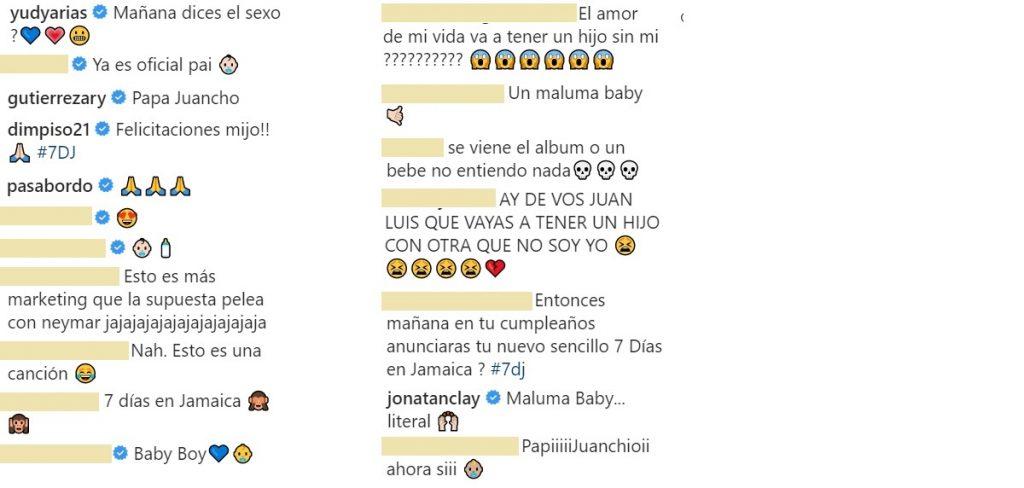 Capturas de pantalla Instagram maluma.
