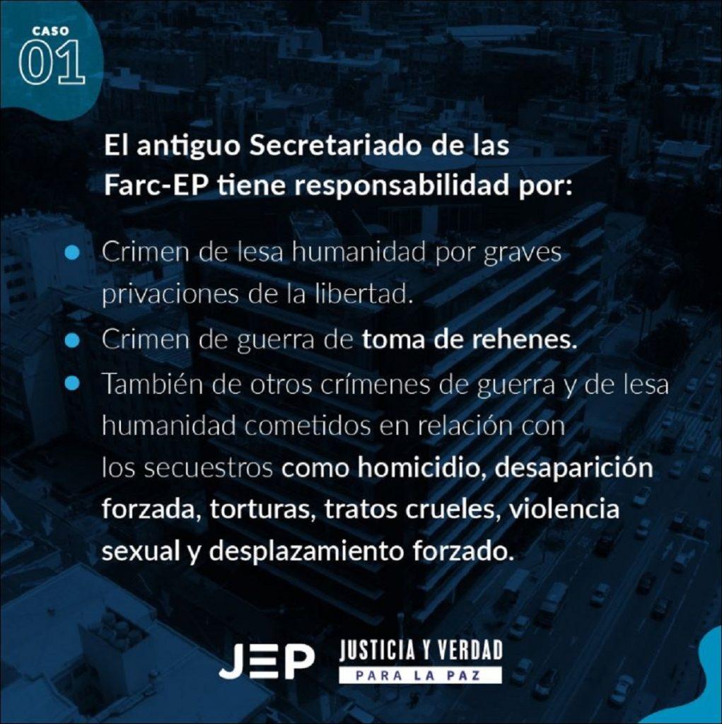 Imagen tomada de Twitter @JEP_Colombia