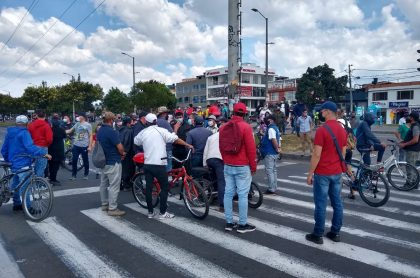 Protestas en Bogotá: comerciantes de UPZ de Suba se oponen a cuarentena