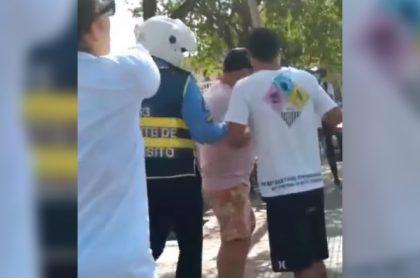 Agente tránsito habría extorsionado turistas en Cartagena; pedía 400.000