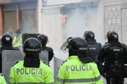 Policías, el día de las protestas del 9S
