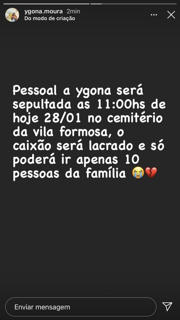 Instagram @ygona.moura
