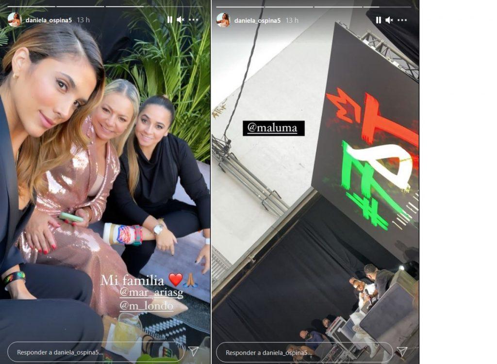 Capturas de pantalla historias Instagram daniela_ospina5.