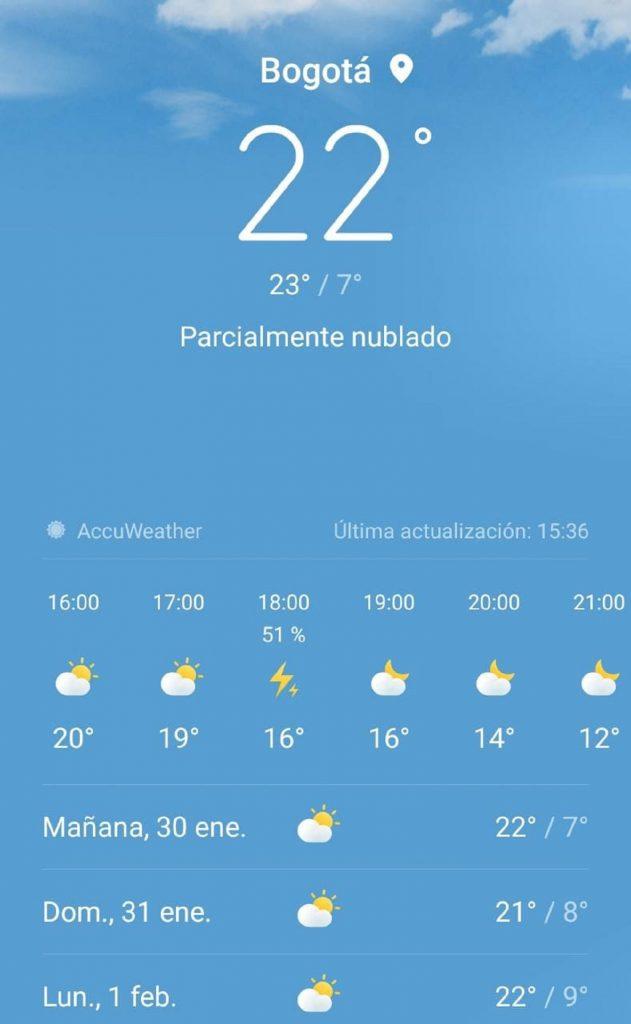 Clima en Bogotá