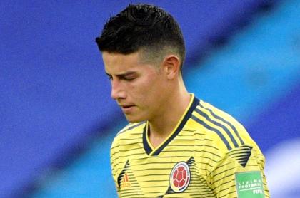 James Rodríguez y otros jugadores  con convocatoria en duda por COVID-19. Imagen de referencia de James Rodríguez.