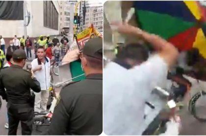 Imágenes del presunto caso de abuso policial en Bogotá