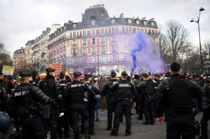 Imagen de los disturbios en Francia, este 30 de enero.