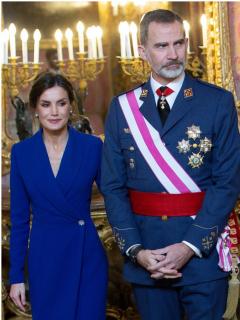 Foto de Letizia, Felipe VI e Iván Duque, a propósito de vs. en sus salarios