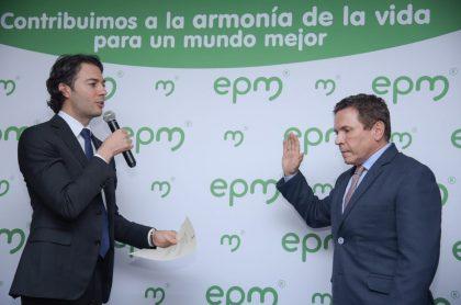 Alcalde Medellín y gerente de EMP, Álvaro Guillermo Rendón