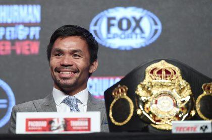 Manny Pacquia, boxeado filipino, perdió su cinturón de supercampeón sin pelear.
