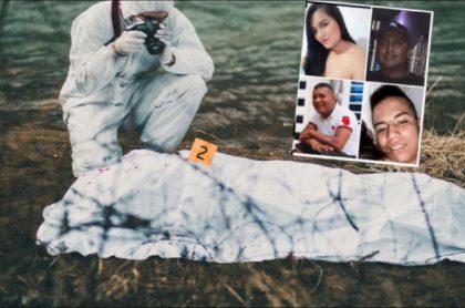 Imágenes de los cuatro jóvenes que estaban desaparecidos en Cauca, y que fueron hallados muertos en Nariño.