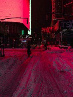 Imagen de la fuerte nevada en Nueva York.