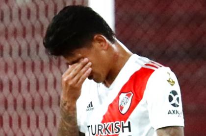 Jorge Carrascal, con COVID-19; el colombiano será baja en Copa Argentina. Imagen de referencia del jugador.