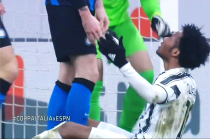 Pelea entre Cuadrado y jugadores del Inter de Milán en Copa Italia