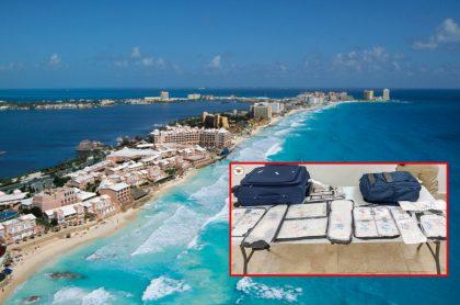 Playas de Cancún y cocaína en maletas, ilustra nota de detención de colombianos con 35 paquetes de cocaína en Cancún, México