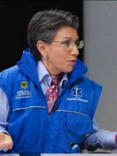 Claudia López y el ministro Fernando Ruiz, que tienen una controversia por el aforo para el regreso a clases