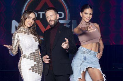 Paola Jara, Noel Schajris y Greeicy Rendón, en 'A otro nivel', ilustran nota sobre regreso del programa, novedades y por qué algunos no usarán tapabocas.