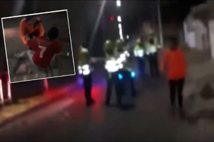 Imágenes que muestran parte del enfrentamiento entre ciudadanos y policías en Kennedy, Bogotá
