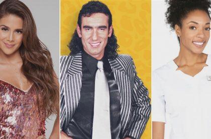 Greeicy Rendón, Miguel Varoni y Nina Caicedo, en 'A otro nivel', 'Pedro, el escamoso' y 'Enfermeras', ilustra nota sobre 'rating' del 3 de febrero de esas novelas o programas y más.