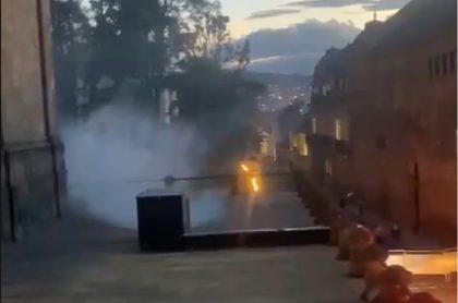 El rumor de un posible incendio en el Congreso de Colombia fue en realidad una falsa alarma.