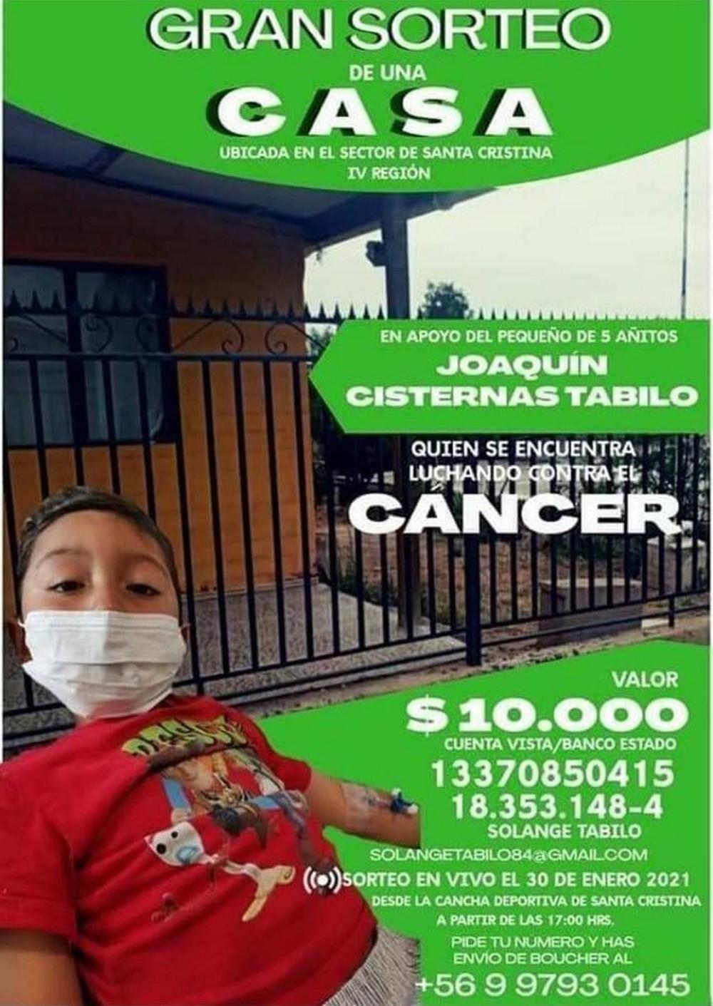 Familia chilena rifa su casa para pagar tratamiento de su hijo con cáncer