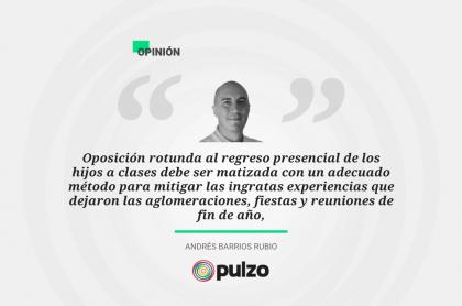 Frase destacada sobre regreso a clases presenciales en Bogotá