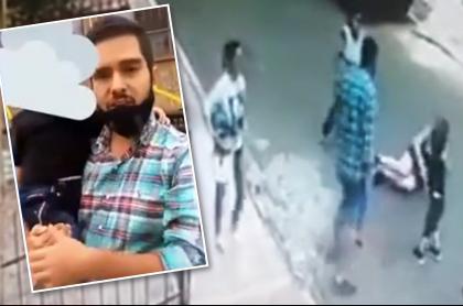 Hombre golpea salvajemente a mujer delante de su hijo por un tapabocas. Fotomontaje: Pulzo.