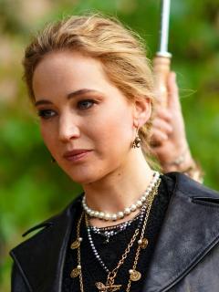 Foto de Jennifer Lawrence, a propósito de su accidente en 'Don't Look Up'