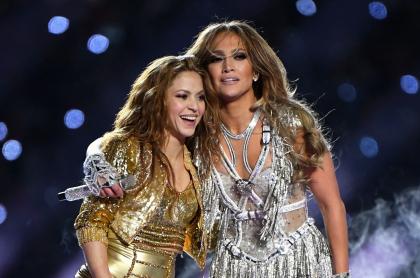 Foto de Shakira y Jennifer Lopez, a propósito de foto sin maquillaje de 'J Lo' en el Super Bowl 2020