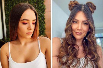 Mariana Correa, hija de Natalia París, y Lina Tejeiro, actriz, quienes publicaron videos practicando 'pole dance'.
