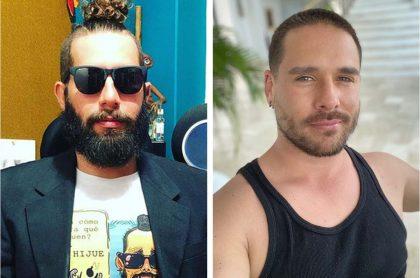 Levy Rincón, 'youtuber', y Juan Sebastián Caicedo, actor, quienes se enfrentaron en Twitter por sus diferencias políticas.