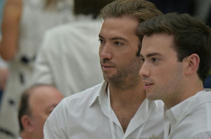 Martín y Esteban Santos, hijos del expresidente Juan Manuel Santos.