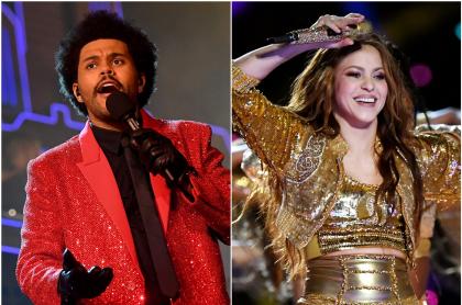 Foto de The Weeknd y Shakira, a propósito de pedido a la colombiana en Super Bowl