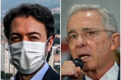 Daniel Quintero, que cree que idea de Álvaro Uribe sobre EPM es castrochavista, y el expresidente