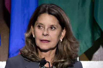 Marta Lucía Ramírez, que renunciaría a la vicepresidencia para ser candidata presidencial