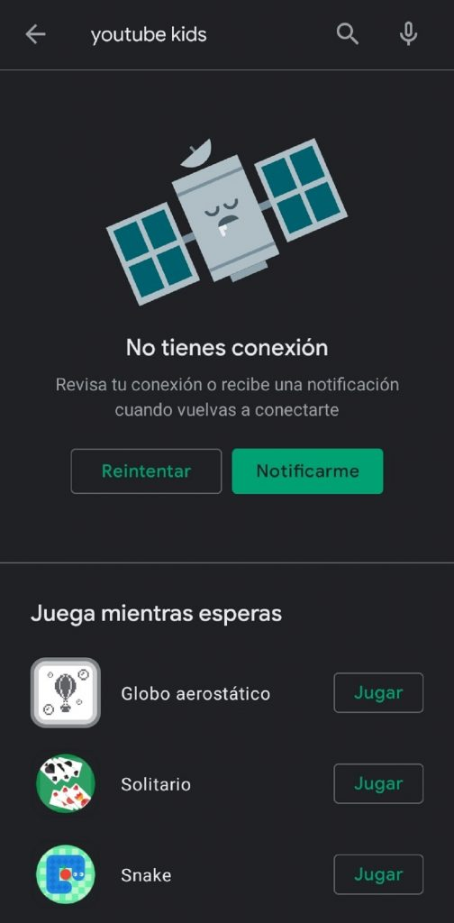 Captura de pantalla a Play Store