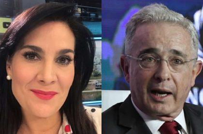 Por darle la razón a Álvaro Uribe, se la montaron a Vanessa de la Torre