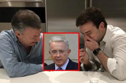 Juan Manuel Santos y Esteban Santos, quien se unió a los que le dijeron castrochavista a Álvaro Uribe
