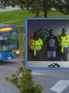 Bus del SITP de Bogotá / Capturado por robo en el sistema integrado