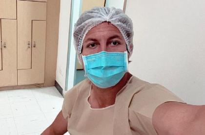Alejandro Riaño antes de que nacieran sus hijos gemelos este martes 9 de febrero