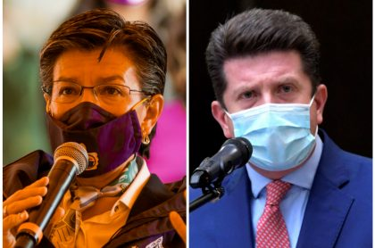Claudia López y Diego Molano, que tendrán cara a cara tras peleas en Twitter
