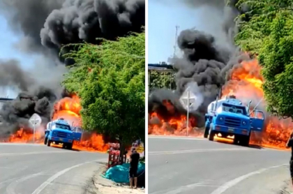 Video: accidente de camión cisterna con gasolina en Maicao, La Guajira