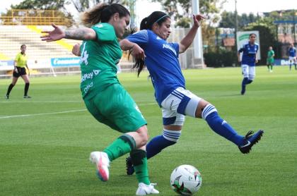 Jugadoras avisan falta de apoyo de los futbolistas a la Liga Femenina. Imagen de referencia del fútbol de mujeres.