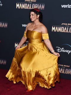 Gina Carano en el estreno de 'The Mandalorian' en noviembre de 2019.