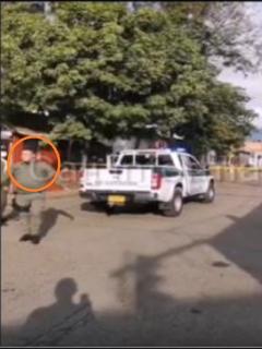 Imágenes del procedimiento de la Policía por amenaza de bomba en Jamundí, Valle del Cauca