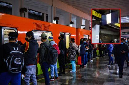 Estación de metro de Ciudad de México, ilustra nota de proyectan en pantalla de metro de Ciudad de México video porno