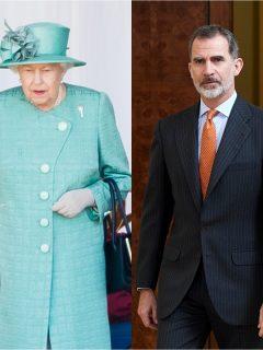 Fotomontaje de reina Isabel II y rey Felipe VI, a propósito de cuánto ganan