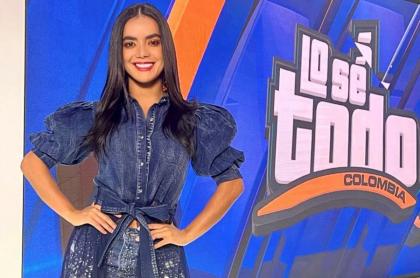 Elianis Garrido en el programa Lo sé todo.